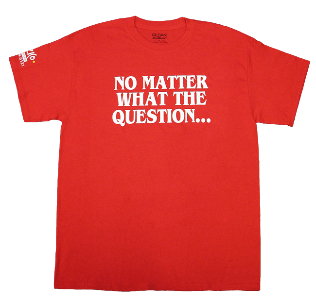 Spizzico T-Shirt - Pizza Is the Answer (Front)