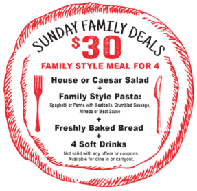 Spizzico Family Meal Deal Special